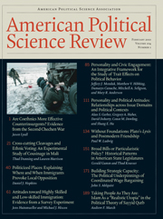 American Political Science Review Volume 104 - Issue 1 -