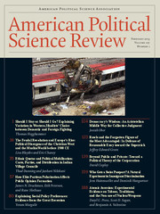 American Political Science Review Volume 107 - Issue 1 -