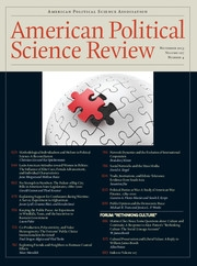 American Political Science Review Volume 107 - Issue 4 -