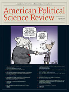 American Political Science Review Volume 109 - Issue 1 -