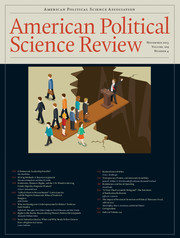 American Political Science Review Volume 109 - Issue 4 -