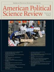 American Political Science Review Volume 110 - Issue 1 -