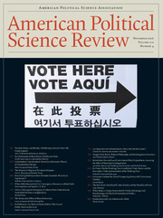 American Political Science Review Volume 110 - Issue 4 -