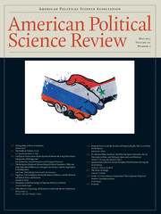 American Political Science Review Volume 111 - Issue 2 -