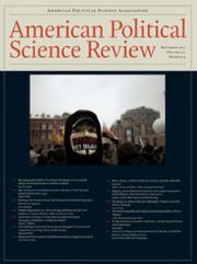 American Political Science Review Volume 111 - Issue 4 -