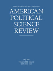 American Political Science Review Volume 112 - Issue 2 -