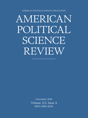 American Political Science Review Volume 112 - Issue 4 -