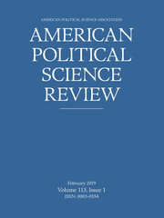 American Political Science Review Volume 113 - Issue 1 -