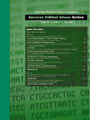 American Political Science Review Volume 99 - Issue 2 -
