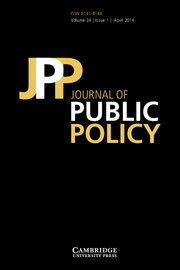 Journal of Public Policy Volume 34 - Issue 1 -