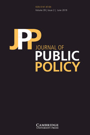 Journal of Public Policy Volume 39 - Issue 2 -