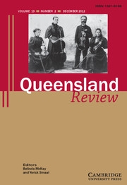 Queensland Review Volume 19 - Issue 2 -