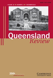 Queensland Review Volume 20 - Issue 2 -