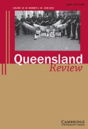 Queensland Review Volume 22 - Issue 1 -