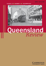 Queensland Review Volume 22 - Issue 2 -
