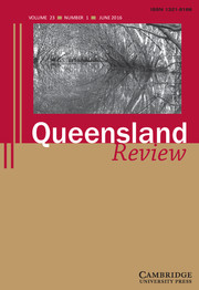 Queensland Review Volume 23 - Issue 1 -