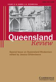 Queensland Review Volume 23 - Special Issue2 -  Queensland Modernism