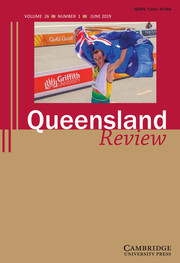 Queensland Review Volume 26 - Issue 1 -