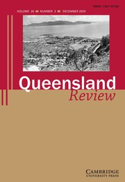 Queensland Review Volume 26 - Special Issue2 -  Thea Astley special issue