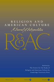 Religion and American Culture Volume 30 - Issue 1 -