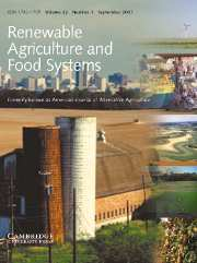 Renewable Agriculture and Food Systems Volume 22 - Issue 3 -