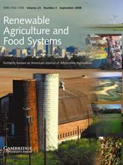 Renewable Agriculture and Food Systems Volume 23 - Issue 3 -