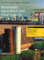 Renewable Agriculture and Food Systems Volume 23 - Issue 4 -  Principles of Integrated Agricultural Systems