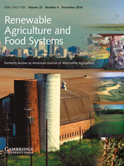 Renewable Agriculture and Food Systems Volume 25 - Issue 4 -