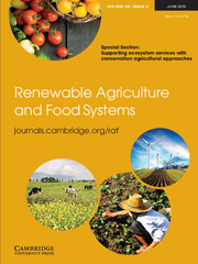Renewable Agriculture and Food Systems Volume 28 - Issue 2 -