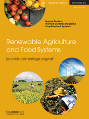 Renewable Agriculture and Food Systems Volume 29 - Issue 3 -