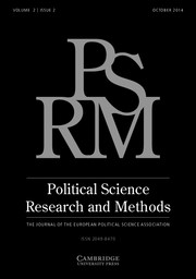 Political Science Research and Methods Volume 2 - Issue 2 -