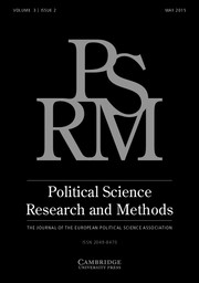 Political Science Research and Methods Volume 3 - Issue 2 -