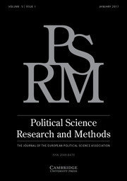 Political Science Research and Methods Volume 5 - Issue 1 -