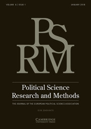 Political Science Research and Methods Volume 6 - Issue 1 -