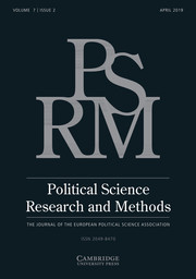 Political Science Research and Methods Volume 7 - Issue 2 -