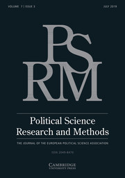 Political Science Research and Methods Volume 7 - Issue 3 -