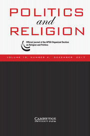 Politics and Religion Volume 10 - Issue 4 -