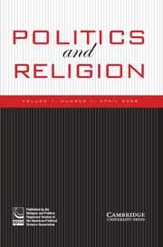 Politics and Religion Volume 1 - Issue 1 -