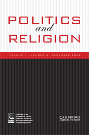 Politics and Religion Volume 1 - Issue 3 -