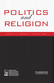 Politics and Religion Volume 2 - Special Issue2 -  Muslims in America