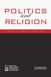 Politics and Religion Volume 5 - Issue 2 -