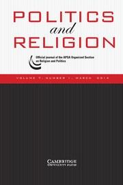 Politics and Religion Volume 7 - Issue 1 -