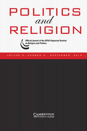 Politics and Religion Volume 9 - Issue 3 -