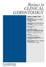 Reviews in Clinical Gerontology Volume 15 - Issue 1 -