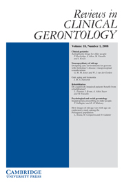 Reviews in Clinical Gerontology Volume 18 - Issue 1 -