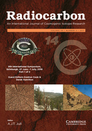 Radiocarbon Volume 59 - Special Issue5 -  8th International Symposium, Edinburgh, 27 June – 1 July, 2016 Part 1 of 2