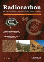 Radiocarbon Volume 59 - Special Issue6 -  8th International Symposium, Edinburgh, 27 June – 1 July, 2016 Part 2 of 2