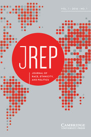 Journal of Race, Ethnicity, and Politics Volume 1 - Issue 1 -
