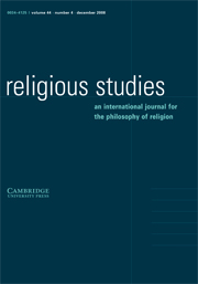 Religious Studies Volume 44 - Issue 4 -