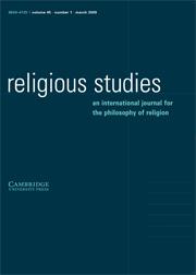 Religious Studies Volume 45 - Issue 1 -